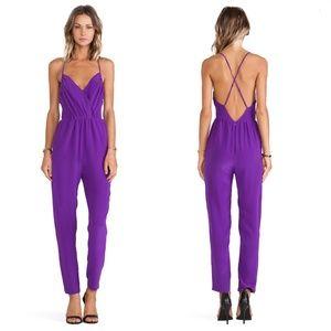 NEW Yumi Kim 100% Silk Purple Crystal Jumper XS